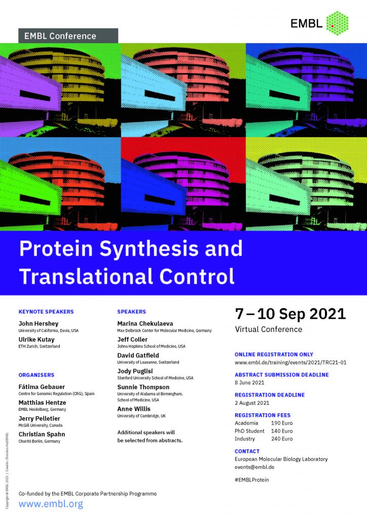 Protein synthesis conference poster