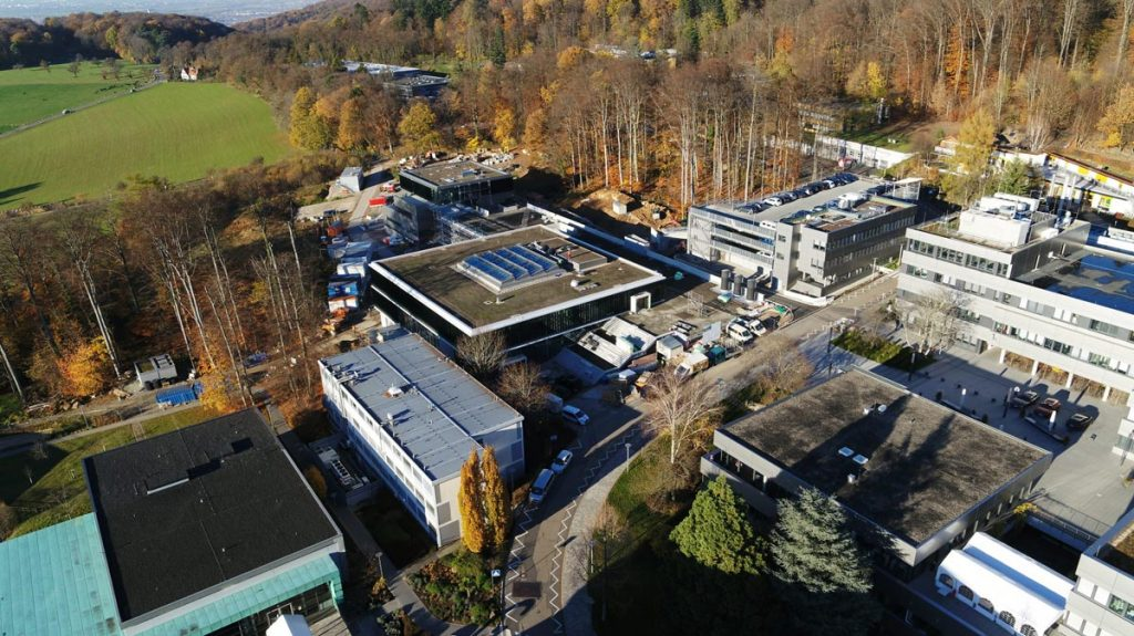 Aerial view of EMBL Imaging Centre construction site