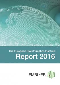 EMBL-EBI 2016 Annual report cover image