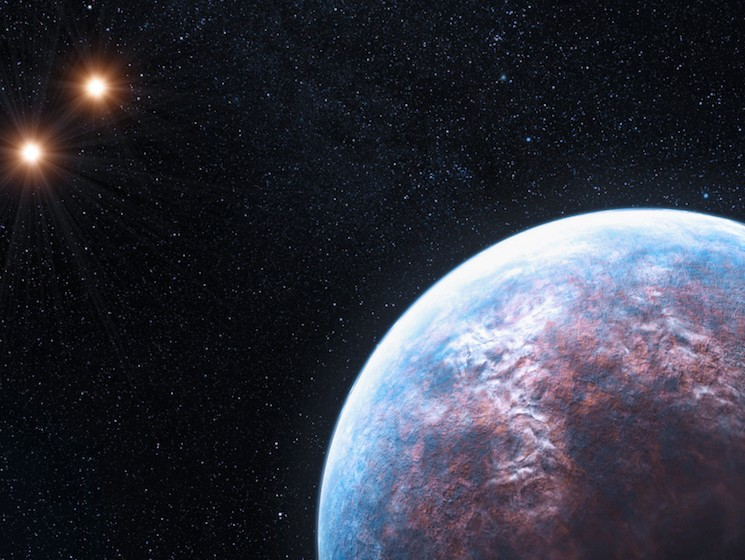 Discovered in 2009, a 6 Earth-mass exoplanet circles the star Gliese 667 C at 1/20th of the distance from the Earth to the Sun. PHOTO: ESO/L. CALCADA