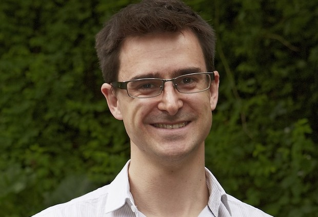 Lewis Dartnell, a research fellow at the University of Leicester, was a keynote speaker at EMBL-EBI's Science and Society symposium on 4 June. PHOTO: EMBL PHOTOLAB
