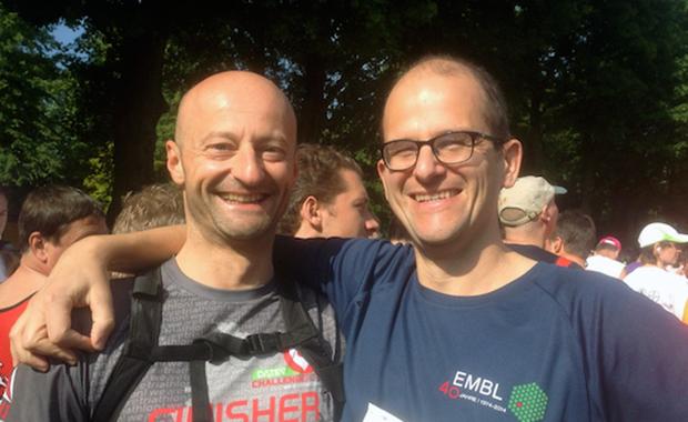 Alumnus Wim Vranken and friend
