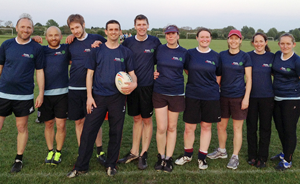 Genome Campus touch rugby team