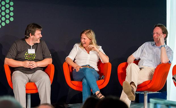 Nicolas LeNovère, Sarah Teichmann and Iain Bird