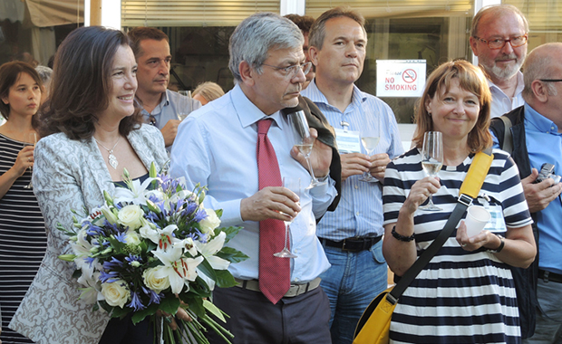 Guests celebrated special guest Nadia Rosenthal, Head of  EMBL Monterotondo from 2001–2012.