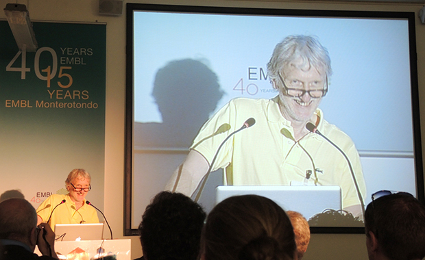 EMBL Director General Iain Mattaj welcomes attendees