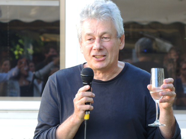 Head of EMBL Monterotondo, Philip Avner, makes a toast.