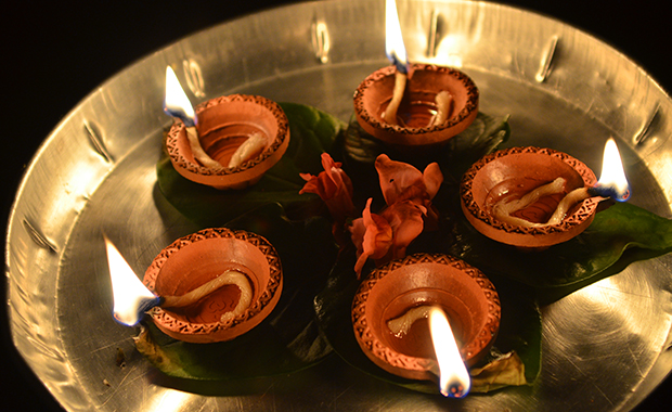 Divali, or the festival of lights, is a big celebration on the island. It commemorates the triumph of light over darkness, and signifies new beginnings for Hindus. PHOTO: Keshav Ramrekha