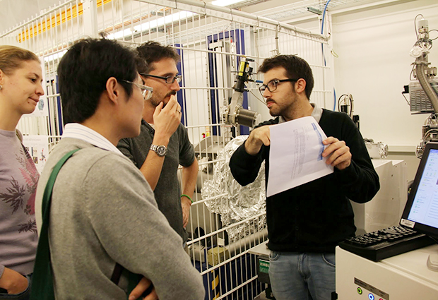 Attendees at the biennial SAXS EMBO Practical Course take a tour of the EMBL BioSAXS beamline. PHOTO: Melissa Graewert