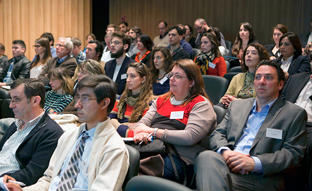 The back-to-back workshops run by the EMBL-EBI Industry Programme were well attended. PHOTO: Dominic Clark