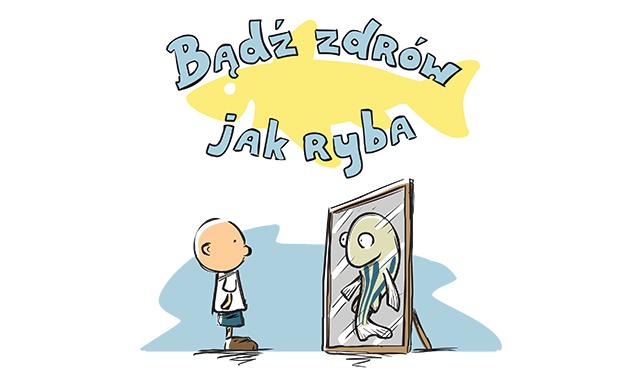 """Bartosik co-authored the educational book """"Bądź zdrów jak ryba"""" (Be healthy as a fish)"""