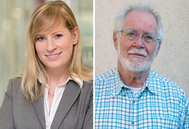 John Kendrew awardee, Melina Schuh; Lennart Philipson Award winner, Jacques Dubochet