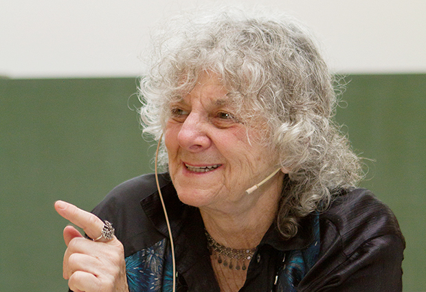 Ada Yonath gives this year's Jentschke Lecture, entitled 'DESY and Life's Vital Bonding Machinery'. PHOTO: Marta Mayer, DESY