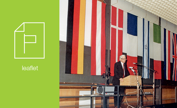 Among the collection is the original leaflet featuring the flags of EMBL's 10 founding member states – today, membership has grown to 21 member states, two associate member states and three prospect members. PHOTO: EMBL Photolab