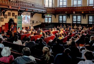 More than 130 visitors bustled into the Cambridge Union Society for the event on 3 June.