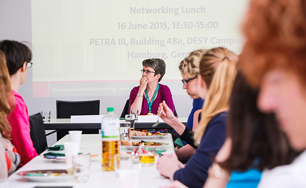 Inspiring and motivating: Women in Science networking lunch. PHOTO: EMBL/Rosemary Wilson