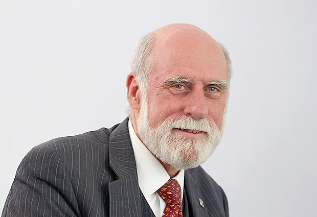 "Vinton Cerf, Google Chief Internet Evangelist, and a ""fathers of the Internet""."