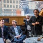 Rob Finn, Ewan Birney, Eric Karsenti and Romain Trouble
