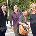 Flying visit: with Ritsuko Suyama, Tamaki Yano and Shoko Yoshida, all from Japan. PHOTO: Caroline Median
