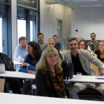 Sharing science and memories at a special session at the EMBL ATC. PHOTO: Caroline Median