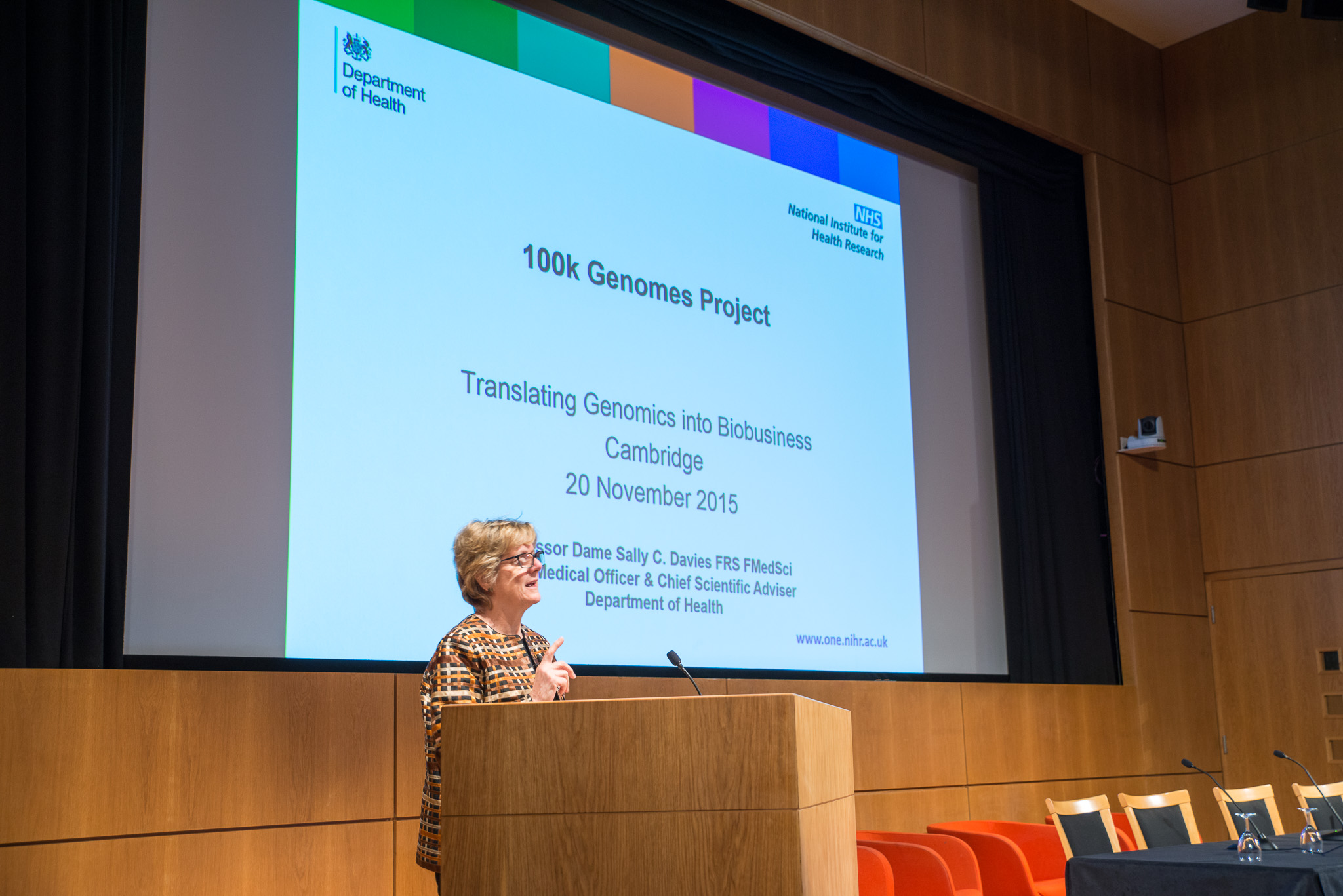 BioBeat15: Sally Davies presents 100,000 Genomes