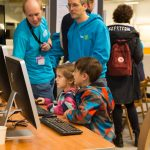 Even our young visitors were keen to learn. PHOTO: EMBL/Rosemary Wilson