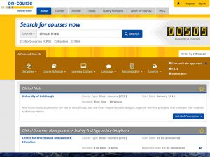 on course - the comprehensive catalogue for biomedical training in Europe