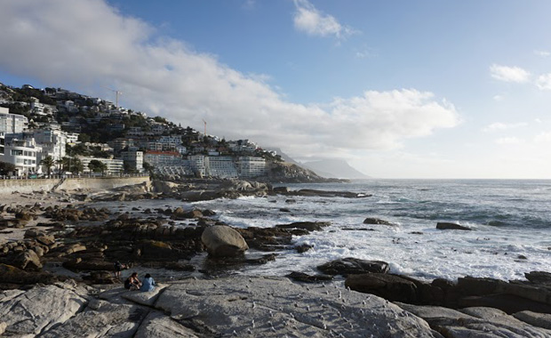 The beach at Bantry Bay, Cape Town, a short walk from where GOBLET members were staying. PHOTO: Cath Brooksbank