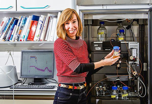 Kim Remans heads EMBL's Protein Expression and Purification Core Facility. PHOTO: EMBL Photolab/Marietta Schupp
