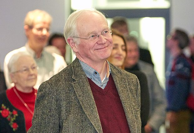 Keith Williamson retires after 14 years at EMBL. PHOTO: EMBL/Udo Ringeisen