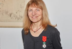 Anne Ephrussi wears the medal of the Order of Légion d'Honneur, the highest distinction in France. PHOTO: EMBL Photolab/Marietta Schupp