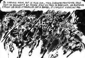 An extract from Edmond Baudoin's original artwork – see the complete image. IMAGE: Edmond Baudoin / Cédric Villani / EMBL archive DE 2324 P-BAU -1