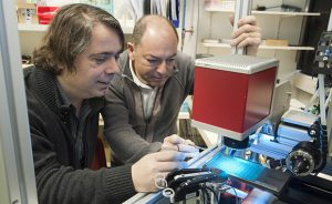 Florent Cipriani (right) developed CrystalDirect™ together with Josan Marquez (left) PHOTO: EMBL