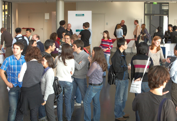 Networking at a conference can be the start of a fruitful collaboration. PHOTO: EMBL Photolab