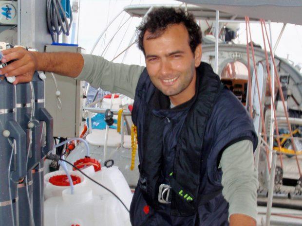 Hugo Sarmento aboard Tara. PHOTO: Tara Oceans/Hugo Sarmento