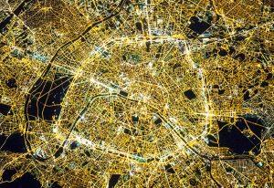 Paris at night. IMAGE: NASA (M. Justin Wilkinson, Texas State University, Jacobs Contract at NASA-JSC)