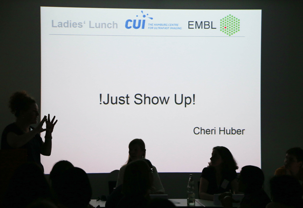 A Ladies' Networking Lunch on the DESY campus in Hamburg gives insights into overcoming the dreaded imposter syndrome. PHOTO: EMBL/Rosemary Wilson