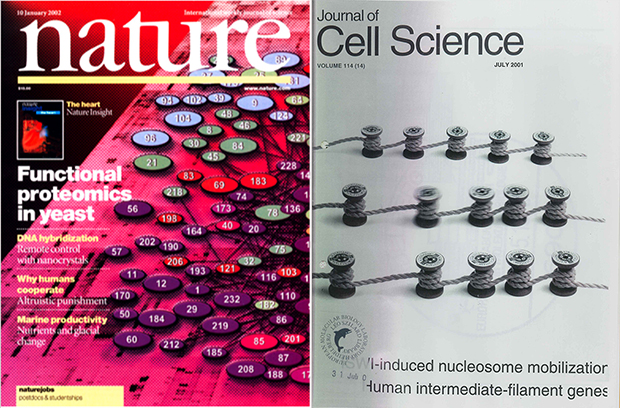 Petra's work has featured on a range of well-known scientific journals.