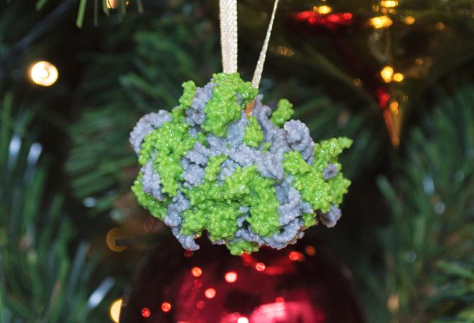 3D printout: molecular structure of a ribosome