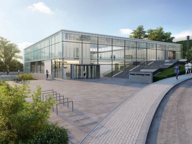 Architect's rendering of the imaging centre building