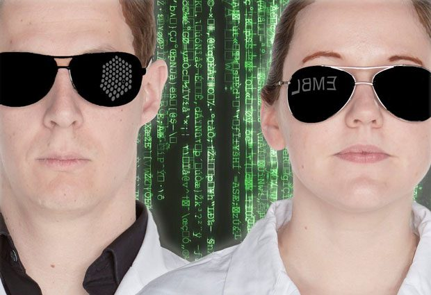 Thomas Schwarzl and Ina Huppertz in cool sunglasses at the Science Movie Night
