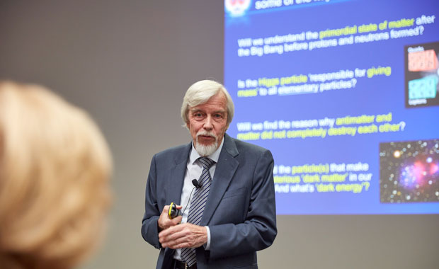 The programme included a talk by Rolf-Dieter Heuer, Council President of the SESAME synchrotron – the Middle East's first major international research centre.