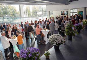 Networking time at EMBL's 2017 Annual Reception. PHOTO: EMBL/Marietta Schupp