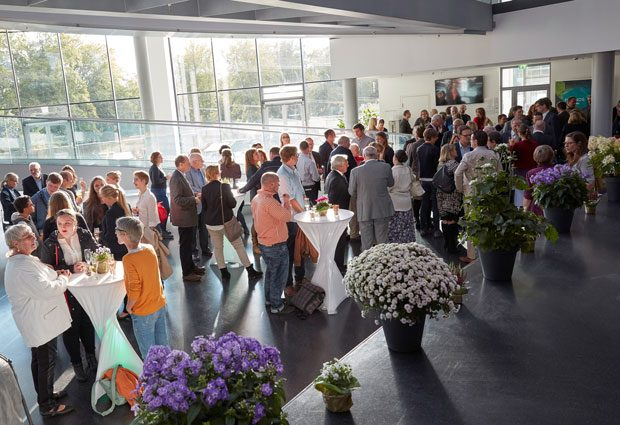 Networking time at EMBL's 2017 Annual Reception. PHOTO: EMBL/Marietta Schupp