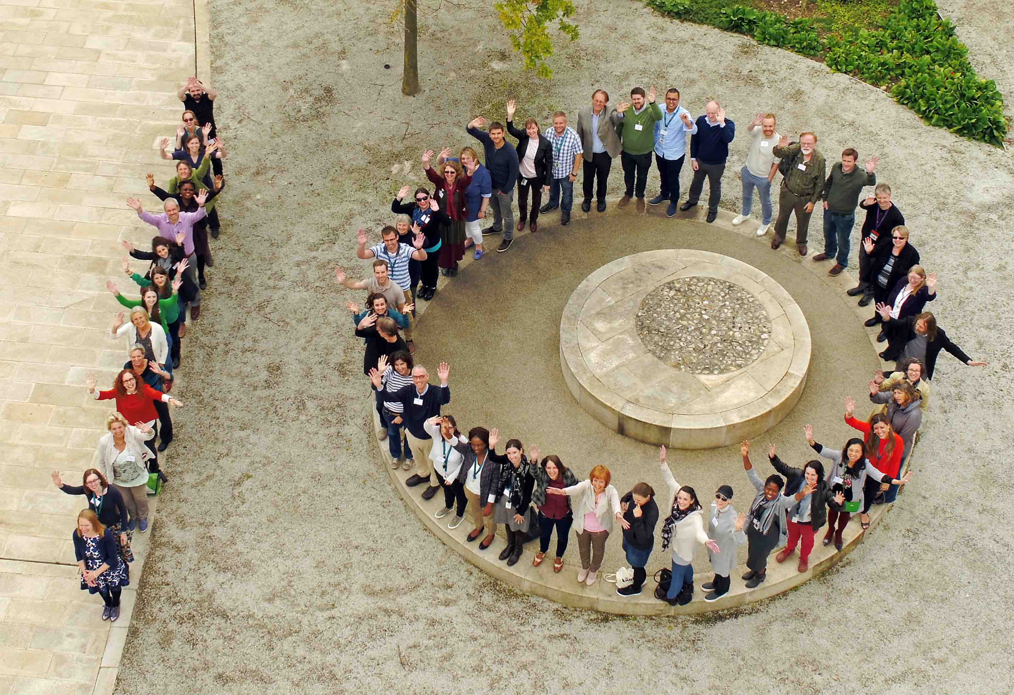 Aerial view of EMBL-EBI Training Symposium 2017