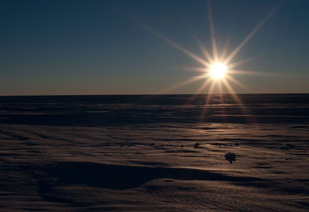 Midnight at Aurora Basin North in Antarctica. PHOTO: Simon Sheldon