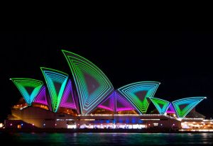 Silke Schumacher was guest speaker at the EMBL in Australia alumni event, which coincided with the Vivid Sydney light festival. PHOTO: Courtesy of Vivid Sydney