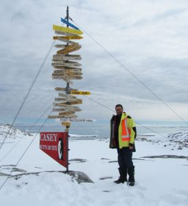 Casey Station on the Antarctic coast is around 15,800 km from Sheldon's office at the Niels Bohr Institute. At this point he still needs to travel 550 km inland for his next field operation. PHOTO: Simon Sheldon