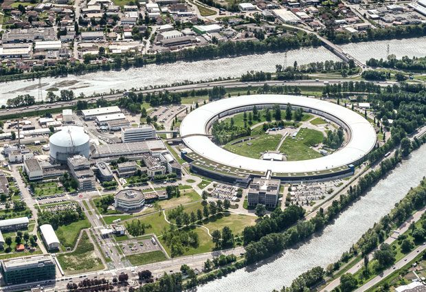 A birdview of European Photon and Neutron sciences campus. PHOTO by ILL