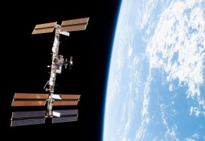 Floating approximately 400 km above the Earth, the International Space Station provides a platform for scientific research in space.